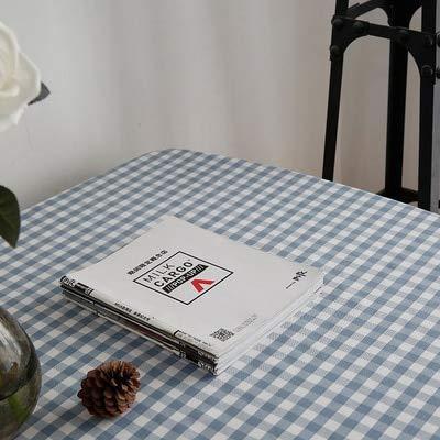 XXDD Mantel clásico a Cuadros Rojo de Lino de algodón Rectangular a Prueba de Polvo para Fiesta Mesa de Comedor Mantel A12 140x200cm