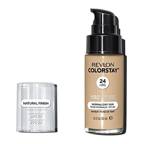 REVLON, Fondotinta Colorstay per pelli secche, flacone con dispenser, 30 ml, N° 180 Sand beige