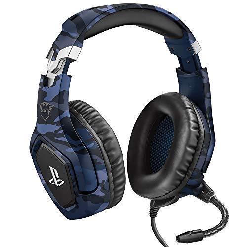 Trust Gaming GXT 488 Forze-B Gaming Headset für PlayStation 4 (klappbarem Mikrofon und einstellbarem Kopfbügel) blau