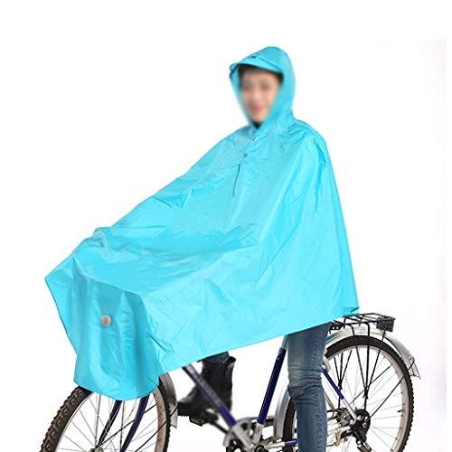 Regenjas elektrische fiets enkele mannen en vrouwen buitensporten kamperen, wandelen regenjas poncho (Color : Lake blue, Size : XXL)