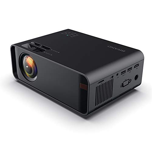 LG&S Mini Proyector De Video Portátil Proyector De Cine En Casa De 1080P A Todo Color Compatible con Interfaz USB/AV/SD/HDMI para Cine En Casa,Negro