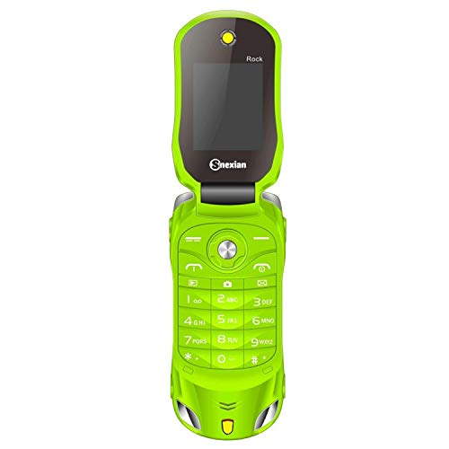 Snexian Rock Car Design Keypad Flip Phone with Dual Sim - Green