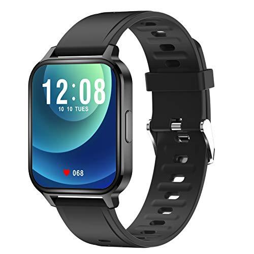 Orologio sportivo intelligente da 1,7 pollici Touch Smart Bracciale Monitoraggio della frequenza cardiaca Modalità multi-sport Sonno scientifico Promemoria sedentario IP68 Braccialetti per la cura