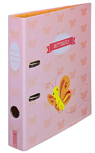 """Ordner Motiv """"Butterfly"""" schmal   für Kinder & Mädchen   DIN A4   ca. 5 cm breit   Motivordner mit Schmetterling-Motiv, rosa - Schreibgefühl®"""