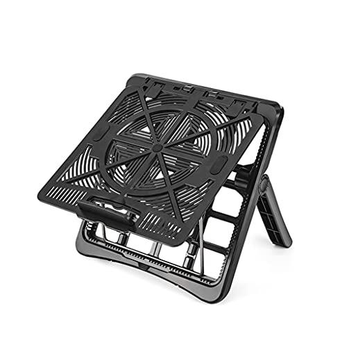 HEYLULU Soporte para computadora portátil Altura de elevación Plegable Ajustable para portátil Soporte de refrigeración para MacBook Pro para iPad Laptop Laptop Negro