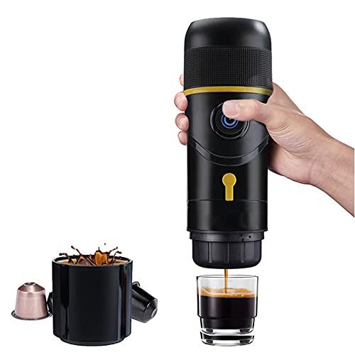 ZHJIUXING ST Cafetera Portátil Máquina de café de Espresso de Cápsulas,Semi-automático Mini Calefacción Eléctrica Coche y Camping