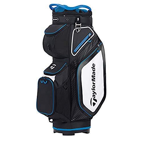 TaylorMade Cart 8.0 Bag, Black/White/Blue