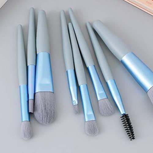 8 pçs / set Mini Pincel de Maquiagem Pincel de Maquiagem Pincel de Corretivo de Sombras Pó Solto Conjunto de Blush de Alto Brilho