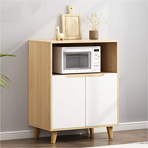 Stum dressoir eenvoudige huishouden keuken locker moderne eenvoud kast thee kast multifunctionele opbergvak voor de woonkamer rubber hout 60X40X92cm XMJ