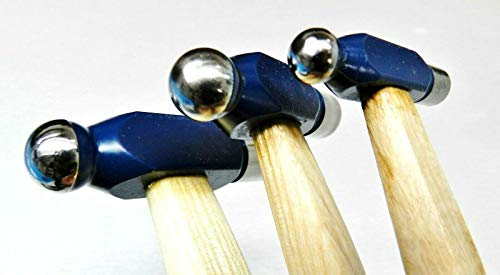 Ball Peen Hammer Set 3 Ball Pein Hammers 1oz 2oz 4oz Hobby Craft Jewelry Making Hammer by JTS