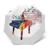 ワンタッチ 自動開閉折りたたみ傘 折り畳み傘ピアノ 転写プリント カジュアル メンズレディース傘uvカット 紫外線遮蔽 折り畳み傘