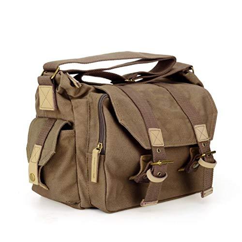 WUHUAROU Bolsa de Hombro para cámara DSLR Sling Photo Video Soft Bags Pack Funda Protectora de Viaje (Color : Coffee)