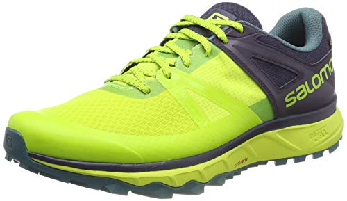 Salomon Trailster GTX, Calzado de Trail Running, Impermeable para Hombre, Verde (Acid...