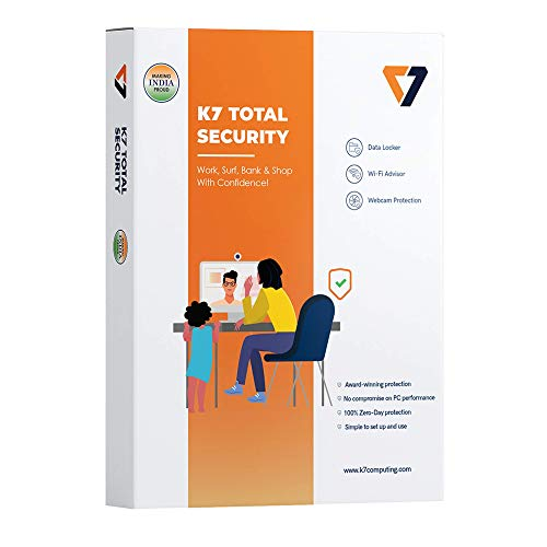 K7 Total Security – 1 PC, 1 Year (CD or Voucher)