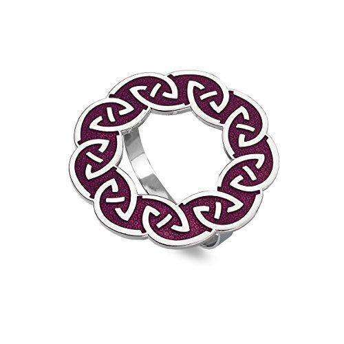 Schal Ring–Emaille Keltischer Knoten Annulus–Mauve