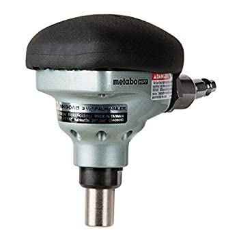 Metabo HPT Palm Nailer Pneumatic Accepts Nails From 2-1/2  to 3-1/2  360° Swivel Fitting Over-Molded Rubber Grip Ideal For Joist Hangers & Metal Connectors  NH90AB