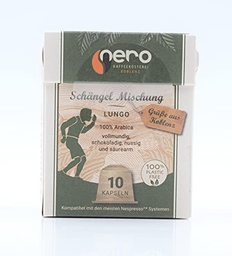 Nerokaffee l Bio basierte Kaffeekapsel Schängelmischung Hausmischung l 10 Kaffeekapseln für Nespresso®-Kapselmaschinen 100% frei von Alu oder Plastik nachhaltige Kaffeekapseln direkt aus Koblenz