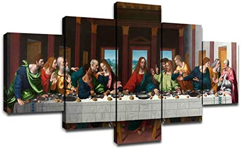 Last Supper Wall Art for Living Room Wall Decor Prints Frame Canvas Poster Christ Religious product image
