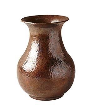 Native Trails Santa Cruz Hammered Copper Vase Tempered Finish  CPV380