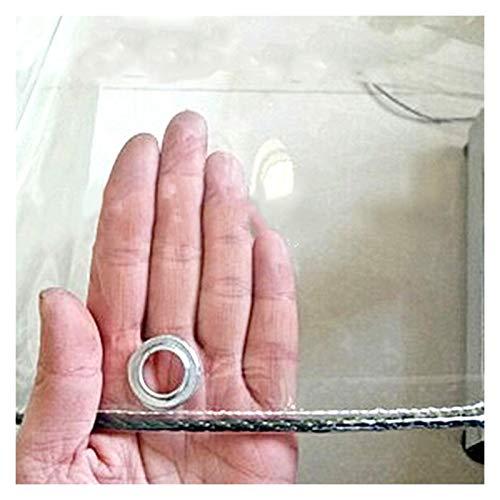 AWSAD Cortinas Transparentes para Exterior PVC Impermeable Paño Impermeable Usado para Aislamiento Vegetal Cobertizo De Flores Cortina Lona Alquitranada, 15 Tamaños (Color : Clear, Size : 4MX1.4M)