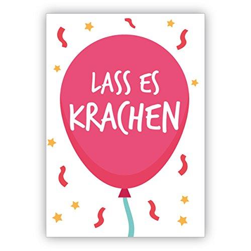 Vrolijk brutale verjaardagskaart met luchtballon: laat het kraken. • om een verjaardag te feliciteren met envelop zakelijk & privé 16 Grußkarten