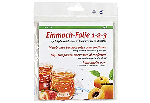 Weck Einmach - Folie Pack A 25 Stck 5050
