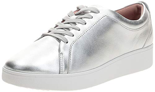 Fitflop Damen Rally Slip On Sneaker, Silber (Silver 011), 38 EU