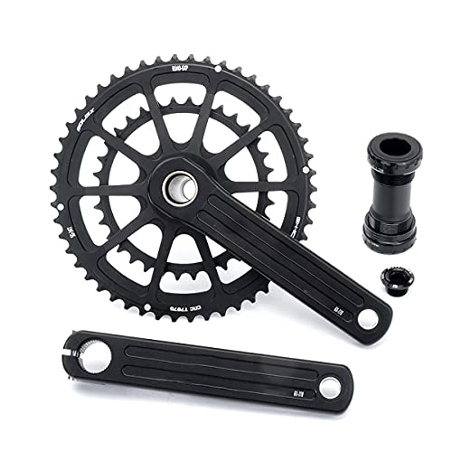 NEHARO Plato único Ancho Estrecho CNC Integrado Aleación de Aluminio Bike Bike Caining Cadena de Bicicleta Anillo para Bicicleta de Montaña (Color : Black, Tamaño : 53-39T)