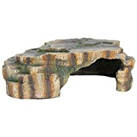 Polyester resin reptile cave Ideal place to retreat Looks natural with rainforest decoration Easy to clean Measures 24 cm length by 8 cm width by 17 cm height
