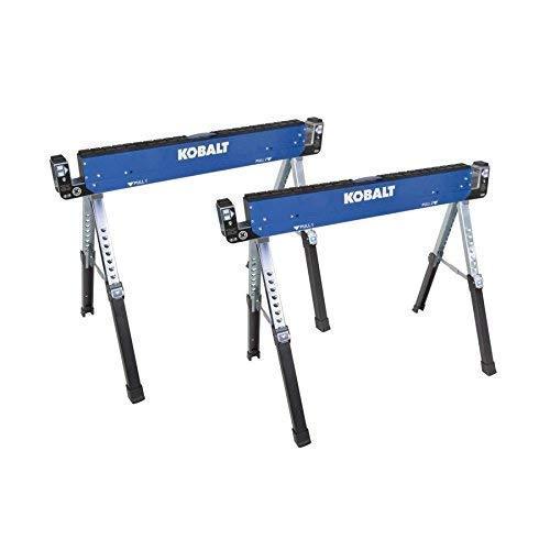 Kobalt 42-in Steel Adjustable Saw Horse (1600-lb) Set