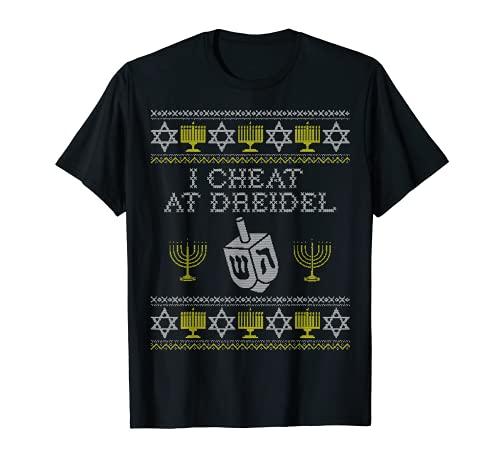 I Cheat at Dreidel Shirt, Funny Hanukkah Shirts, Kids Gift T-Shirt