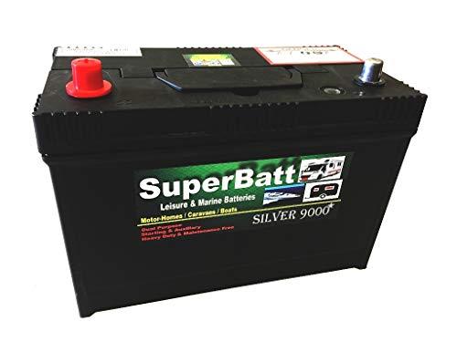 SuperBatt 12V 120AH LM120 Heavy Duty Deep Cycle Leisure Marine Battery - DUAL PURPOSE MAINTENANCE FREE HEAVY DUTY Replace 12V 100AH 105AH 110AH 115AH 120AH