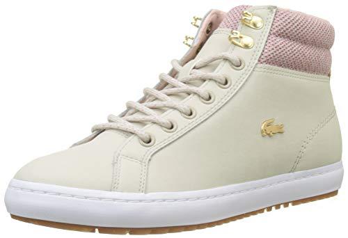 Lacoste Damen Straightset Insulatec3182 Caw Sneaker, Beige (Nat/Wht 7f8), 39.5 EU