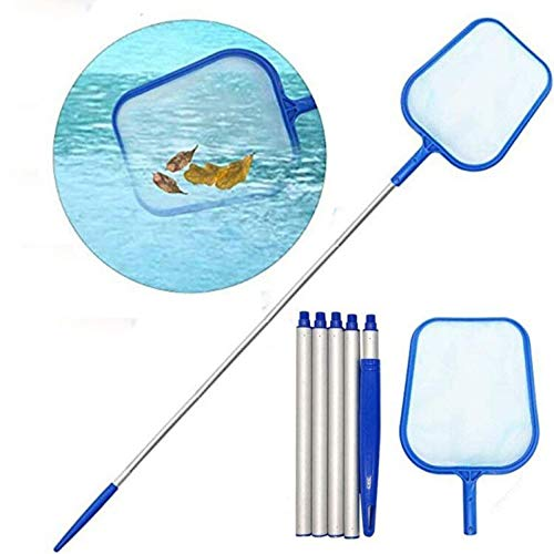 "CICL Pool Skimmers with Pole Mesh Nets with 47"" 5-Section Aluminum Skimmer for Cleaning Swimming Pool, Garden Pond, Hot Tub and Spa"
