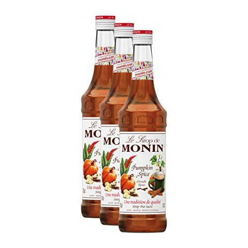Monin Sirup Kürbis Gewürz (Pumpkin Spice), 0,7L 3er Pack