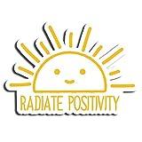 Radiate Positivity Smiley Sticker Emoticon Stickers Waterbottle Sticker Tumblr Stickers Laptop Stickers Vinyl Stickers (3 Pcs/Pack)