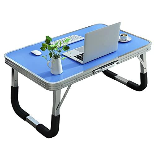 JHSLXD Mesa plegable creativa portátil mesa de ordenador dormitorio pequeño escritorio estudiante dormitorio estudio mesa de lectura, color azul, 72 cm