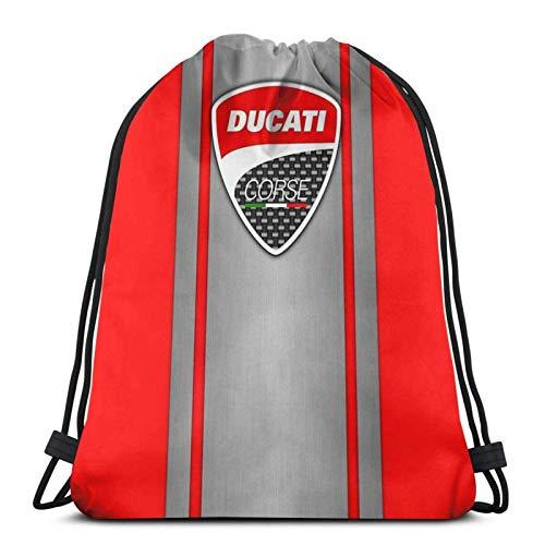 LREFON Ducati Corse Steel Skin Sport Sackpack Mochila con cordón Bolsa de Gimnasio Saco