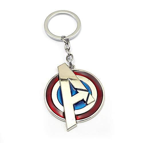 JLZK Avengers 4 Gauntlet Llavero Oro golve Thanos Axe Keyring Inficnity Guerra Thor Martillo Accesorios para Fans (Avengers Logo)