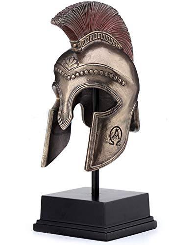 8.25 Inch Greek Hoplite Helmet on Stand Warrior Helmet Statue Sculpture