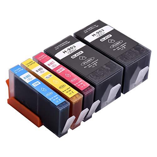Aibecy Cartuchos de tinta 903XL de repuesto para HP 903XL 903 compatibles con la impresora multifunción HP Officejet Pro 6950 6960 6970, paquete de 5