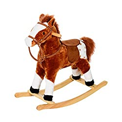✅CLASSIC TOY WITH AUTHENTIC SOUNDS: Combines a traditional horse design with updated features such as neighing sound like a real horse when the ears are pressed. ✅SOFT PLUSH BODY: A softly padded polyester plush body and comfortable riding saddle rec...