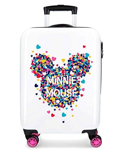 Minnie Magic Maleta de Mano Blanca ABS 55cm 2.8Kg