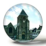 Hqiyaols Souvenir Saint-Valery-Sur-Somme Francia Tours y Remparts Imán de Nevera de Recuerdo 3D Imanes de Nevera de Cristal de círculo de Regalo de Viaje