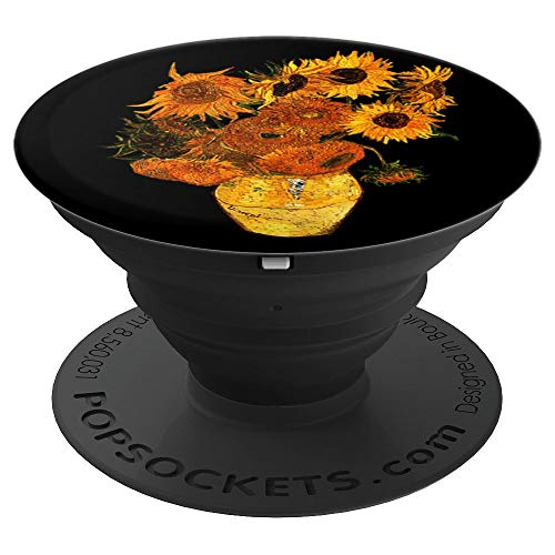 Van Gogh Sunflowers Vintage Floral Art Painting Design PopSockets Grip and Stand for Phones and Tablets