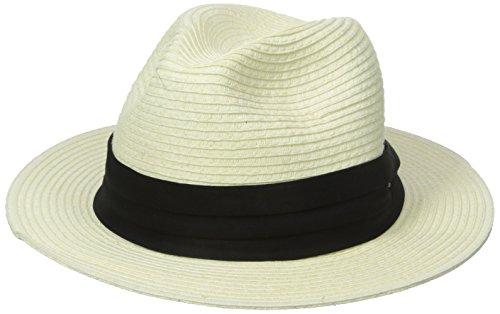 Scala Men's Paper Braid Safari with Black Band, Ivory, X-Large -  Dorfman Pacific Co. Inc Men's Headwear, MS321-IVORY