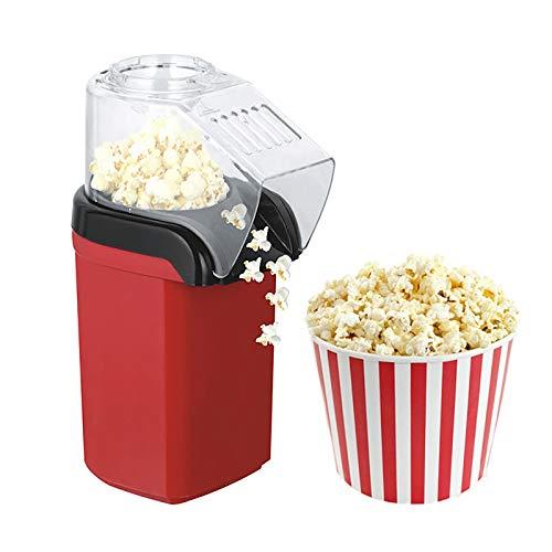 Popcorn Maschine Popcorn Maker mit starker Leistung 1200W, fettfreie Zubereitung mit Heißluft