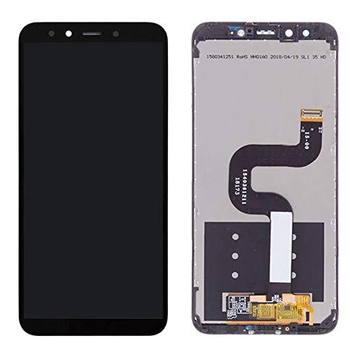 Pantalla LCD de repuesto para XiaoMi Mi A2 MIA2 pantalla LCD de repuesto para XiaoMi 6X LCD Digitalizador Asamblea con marco para Mi 6X LCD teléfono pantalla táctil LCD (color negro con marco).