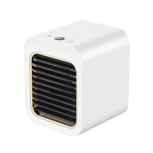 HALIGHT Mini Air Conditioner Fan, Personal Portable Air Cooler, Silent Spray Refrigeration Desktop Air Cooler