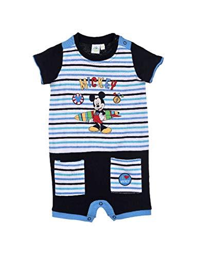 Barboteuse bébé garçon Disney Mickey Gris et Marine de 3 à 18mois - Bleu/Marine, 6 Mois
